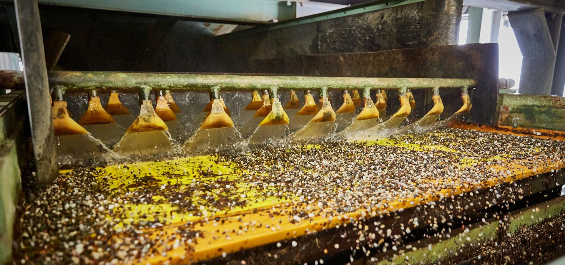 Vaste palette de granulats
